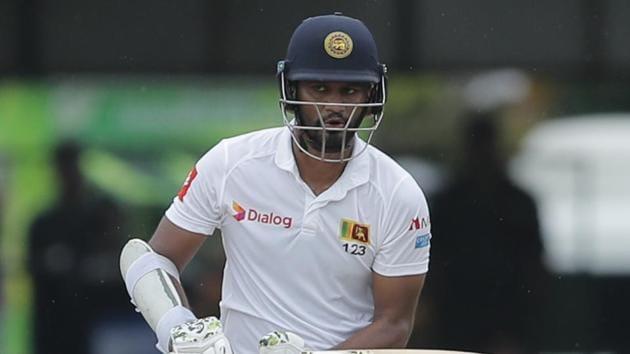 File image of Sri Lanka skipper Dimuth Karunaratne.(AP)