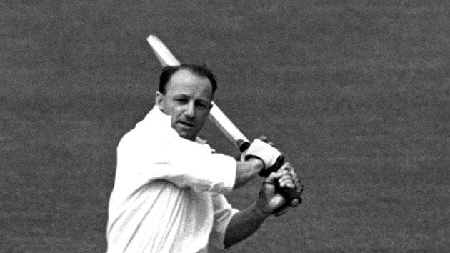 11 JUN 1948: DON BRADMAN OF AUSTRALIA IN ACTION BATTING DURING THE NOTTINGHAM TEST. Mandatory Credit: Allsport Hulton/Archive(Getty Images)