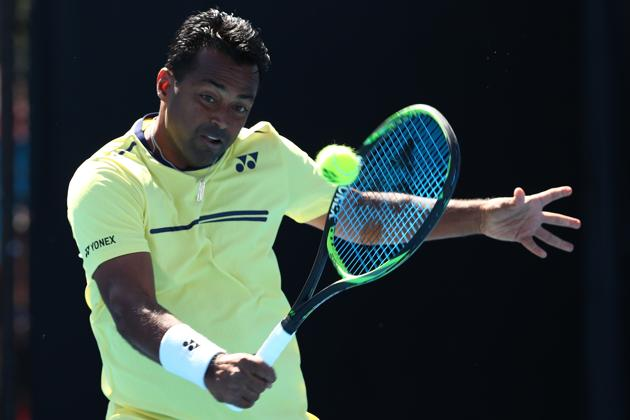 Leander Paes of India(Getty Images)