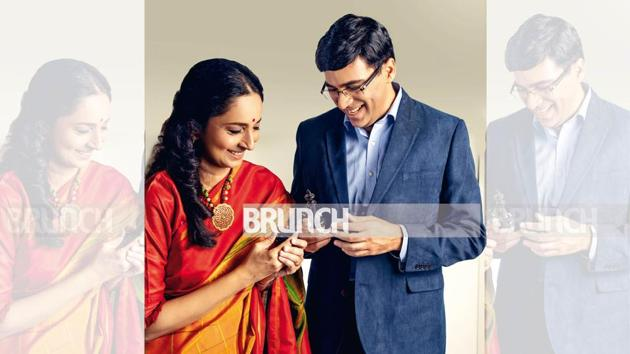 Aruna and Viswanathan Anand gives a rare glimpse of their fun side; Art direction by Amit Malik; Make-up and hair: Rosh(Shivamm Paathak)