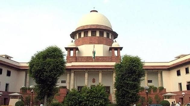 As soon as the hearing on the petition commenced in court 2 of the Supreme Court, the bench of justices NV Ramana, Ashok Bhushan and Sanjiv Khanna made it clear that it was not inclined to entertain the case filed by Pramod Pandit Joshi, a spokesperson of the Akhil Bharat Hindu Mahasabha.(HT file)