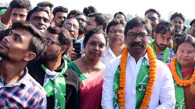 Former Chief Minister of Jharkhand and JMM Chief Hemant Soren. His party is hoping to win seats in Palamu region in the Jharkhand Assembly Election.(ANI File)