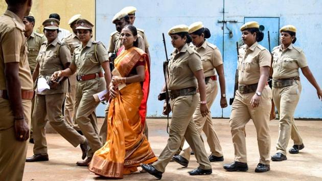 Nalini was out on parole this year on July 25 in order to make wedding arrangements for her UK-based daughter.(FILE PHOTO.)