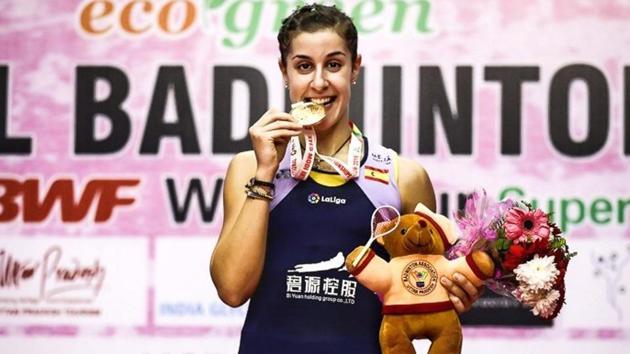 Carolina Marin clinesh top honours.(Twitter/Carolina Marin)
