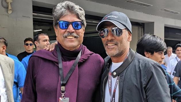 Kapil Dev and Ravi Krishnan at the X1 Racing League.