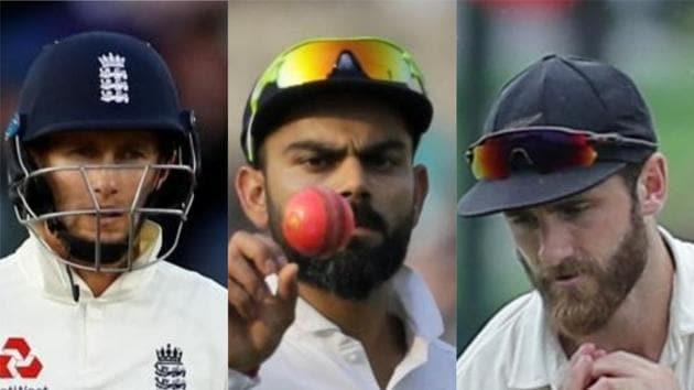 England skipper Joe Root, India captain Virat Kohli and New Zealand skipper Kane Williamson (L-R).(Reuters, AP and AP)