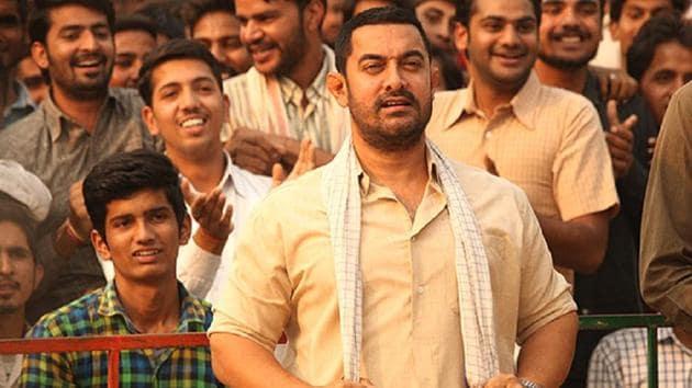 Aamir Khan in a still from Dangal.