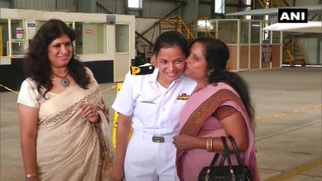 Sub-lieutenant Shivangi, who was born in Bihar's Muzaffarpur, will be flying the Dornier surveillance aircraft of the Indian Navy. (ANI photo)