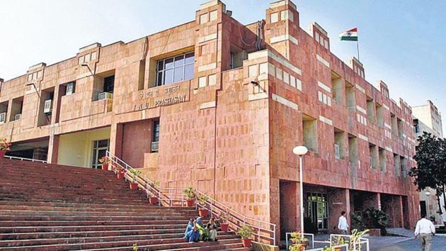 JNU administrative building.(HT file)
