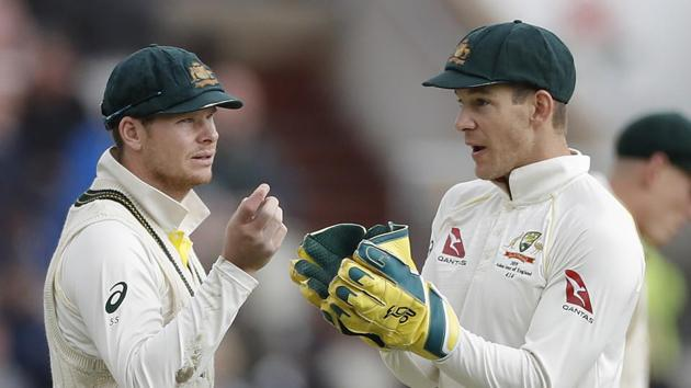 File image of Australia cricketer Steve Smith with skipper Tim Paine.(Getty Images)