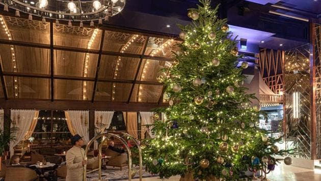The hotel collaborated with fashion designer turned baker Debbie Wingham to create the Christmas tree which is said to be worth a whopping £11.9 million ($15.4 million) for display at the resort.(Kempinski Hotel Bahia)