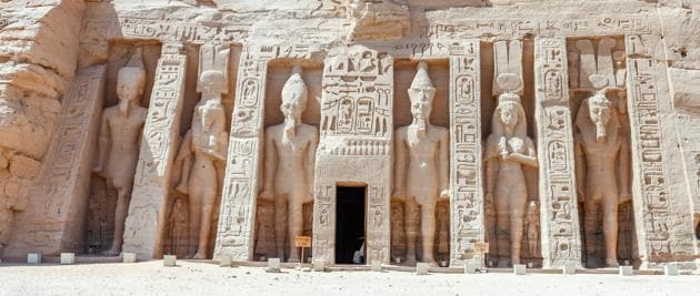 "The name of the remote Egyptian village Al-Nehaya sounds much like the Arabic word for ""the end"", which is sadly fitting given the grinding poverty endured by most of its people. (In picture: Abu Simbel Temples, Egypt)(UNSPLASH)"