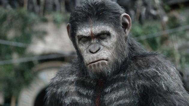 Andy Serkis as Caesar in the Planet of the Apes reboot series.