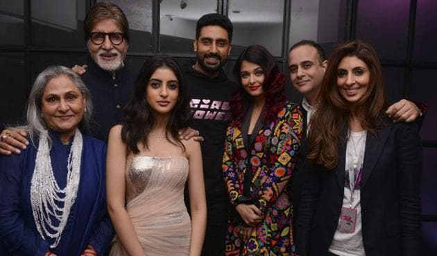 On Navya Naveli Nanda's birthday, we bring you her best photos with grandad Amitabh Bachchan and rest of her family.