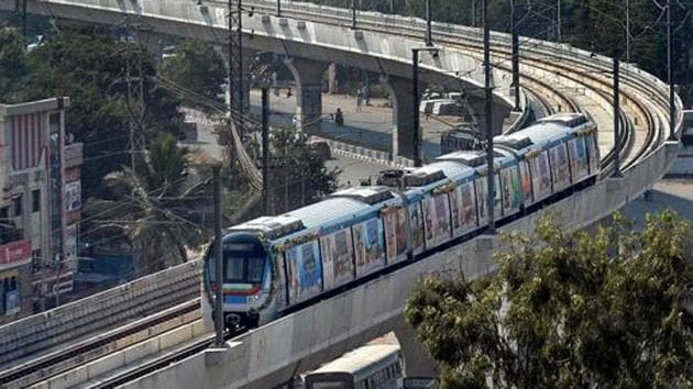 Earlier carrying pepper spray was disallowed in metro trains in Hyderabad on grounds of fire safety.(PTI PHOTO.)
