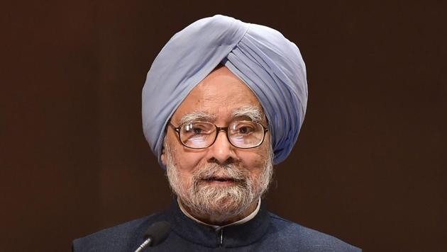 Former prime minister Manmohan Singh was addressing a function to mark the 100th birth anniversary of Gujral, one of his predecessors.(PTI)