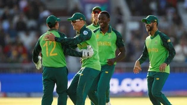 South African players at the 2019 Cricket World Cup.(Action Images via Reuters)
