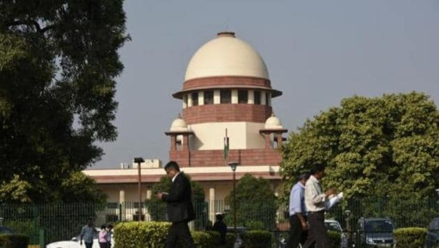 A view of the Supreme Court building, in New Delhi, India.(Burhaan Kinu/HT PHOTO)