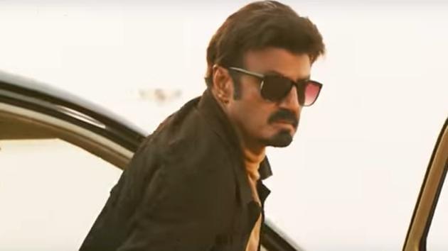 Nandamuri Balakrishna in Ruler's trailer.