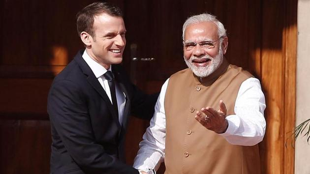 France and India are also looking at joint patrols and operations in the northwestern Indian Ocean, including the Gulf of Aden, and greater coordination in the Strait of Hormuz, which saw several attacks on tankers this year.(HT PHOTO.)
