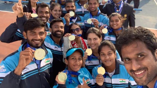 Indian team at SAG.(Twitter)