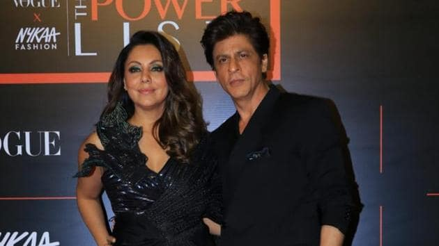 Shah Rukh Khan and Gauri Khan at the Vogue X Nykaa Fashion: The Power List 2019.(Varinder Chawla)