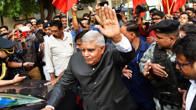 West Bengal Governor Jagdeep Dhankhar has had an acrimonious relationship with the state government ever since he was sworn in on July 30.(ANI)