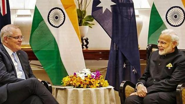 India and Australia have almost concluded negotiations on an agreement for reciprocal access to military facilities for logistics support.(PTI)