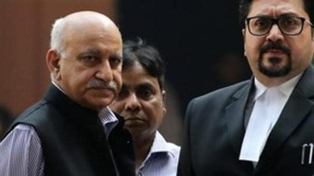 """Former minister of state for external affairs, MJ Akbar (left), has said that the sexual harassment allegations against him are """"false, fabricated and deeply distressing.(Reuters File)"""