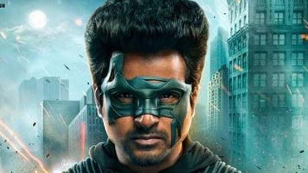 Sivakarthikeyan as the masked superhero in Tamil film Hero.