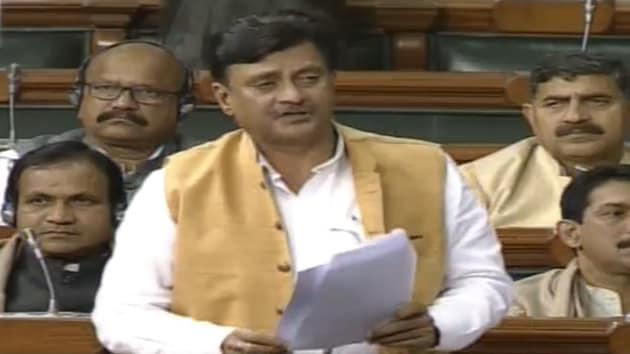 BJP MP Ganesh Singh on Thursday claimed that as per a research done by a US-based academic institution, speaking Sanskrit language on a daily basis boosts the nervous system(Ganesh Singh/Twitter)