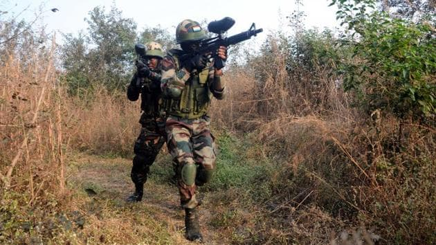 India and Russia will jointly take down a 'mock up' terrorist base located in a third country as part of a first of its kind tri-service joint military exercise.(HT file photo for representation)