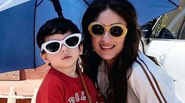 Kareena Kapoor with her son, Taimur Ali Khan.(Instagram)