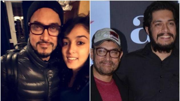 Aamir Khan with daughter Ira Khan and son Junaid Khan. (Instagram/IANS)