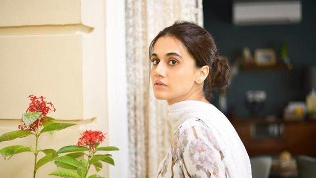 Taapsee Pannu in a still from Anubhav Sinha's Thappad.