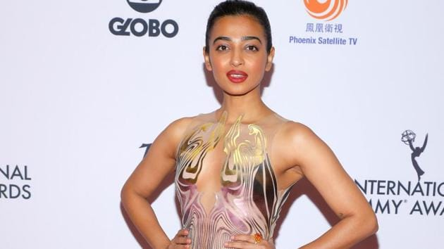 Indian actor Radhika Apte arrives for the 47th International Emmy Awards in New York City.(REUTERS)