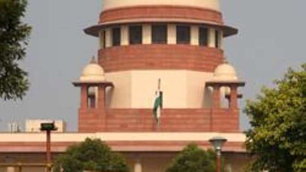 A view of the Supreme Court during(Amal KS/HT PHOTO)