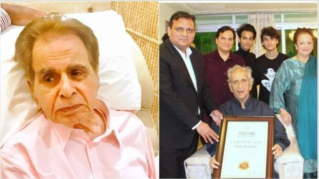 Dilip Kumar turned 97 earlier this month and was honoured by the World Book of Records.