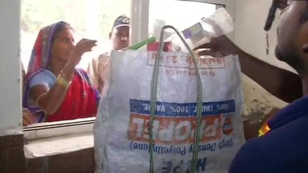 The 'Meal for Plastic' initiative has been rolled out in collaboration with the United Nations Development Programme.(Twitter/@ANI)