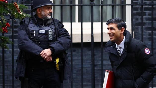 Britain's Chief Secretary to the Treasury Rishi Sunak leaves 10 Downing Street in London, Britain, December 17, 2019.(REUTERS)