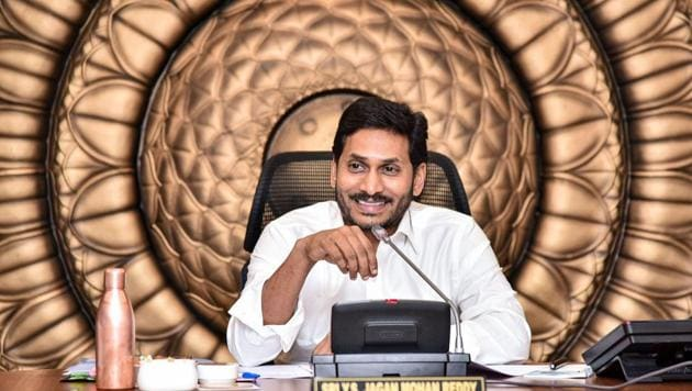 Hundreds of farmers of Amaravati took to the streets to protest against chief minister YS Jagan Mohan Reddy's statement in the assembly that the executive capital would be shifted to Visakhapatnam and judiciary to Kurnool, while confining to Amaravati only the legislative assembly.(PTI PHOTO.)