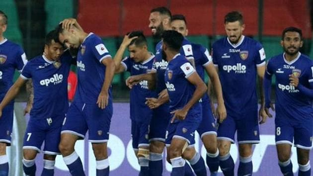 Chennaiyin FC secured their second win of the season after defeating Kerala Blasters FC.(Twitter)