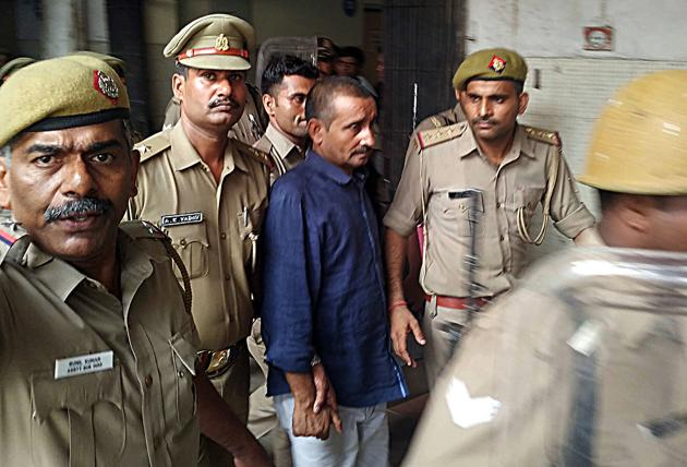 Unnao rape accused Kuldeep Singh Sengar who has been convicted by Tis Hazari court, in New Delhi on Monday.(File photo: ANI)