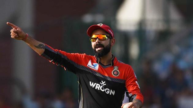 Royal Challengers Bangalore captain Virat Kohli during an IPL match last year.(Vipin Kumar/HT PHOTO)