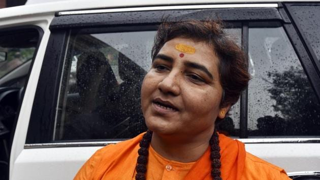 BJP MP Pragya Singh Thakur(Sanjeev Verma/HT photo)