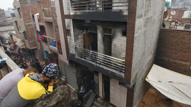 Police suspect the fire may have started from the ground floor, and an explosion in an LPG cylinder escalated it leading to the several deaths. (Photos by Amal KS)