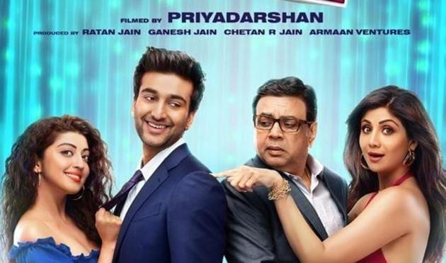 The first poster of Hungama 2 features Meezaan, Shilpa Shetty and Paresh Rawal.