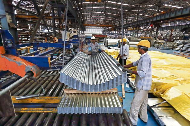 The IIP growth during April-November period of the current fiscal came in at 0.6 per cent, down from 5 per cent in the same period of 2018-19.(Bloomberg)