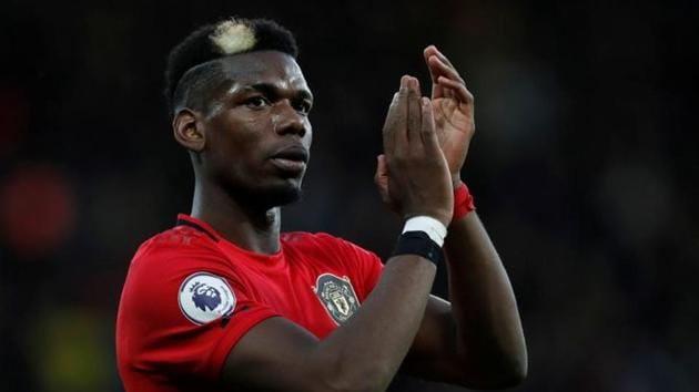 Manchester United's Paul Pogba applauds fans after the match.(Action Images via Reuters)