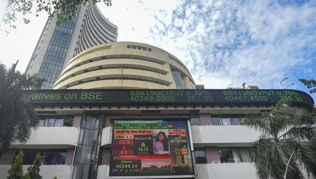 The Sensex opened at 41,684.5, marginally higher from its previous close of 41,642.66.(PTI file photo)